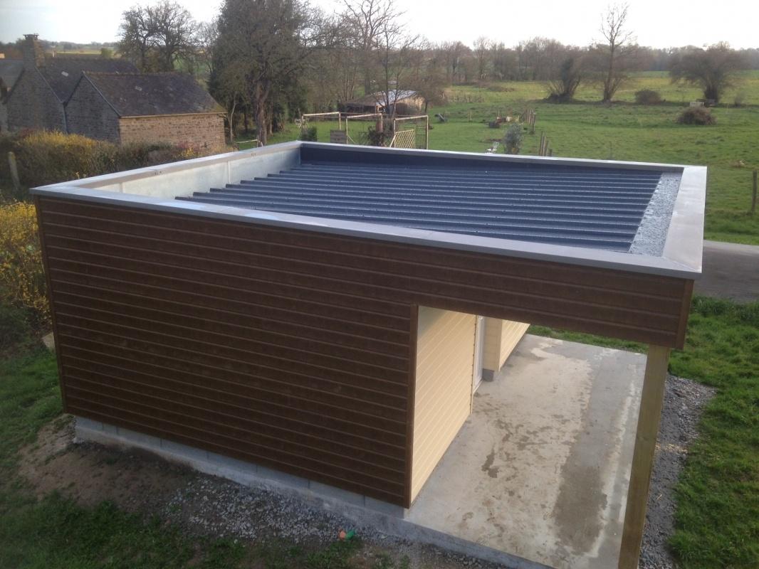 R alisation d 39 extension bois en mayenne - Abri de jardin avec extension ...